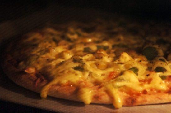 オーブンレンジでピザ